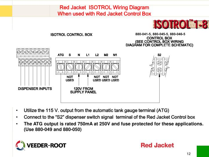 red jacket isotrol wiring diagram when used with red jacket control box n ppt red jacket isotorol controllers training powerpoint