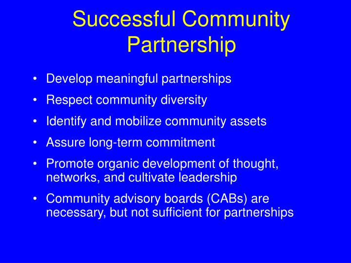 Successful Community Partnership