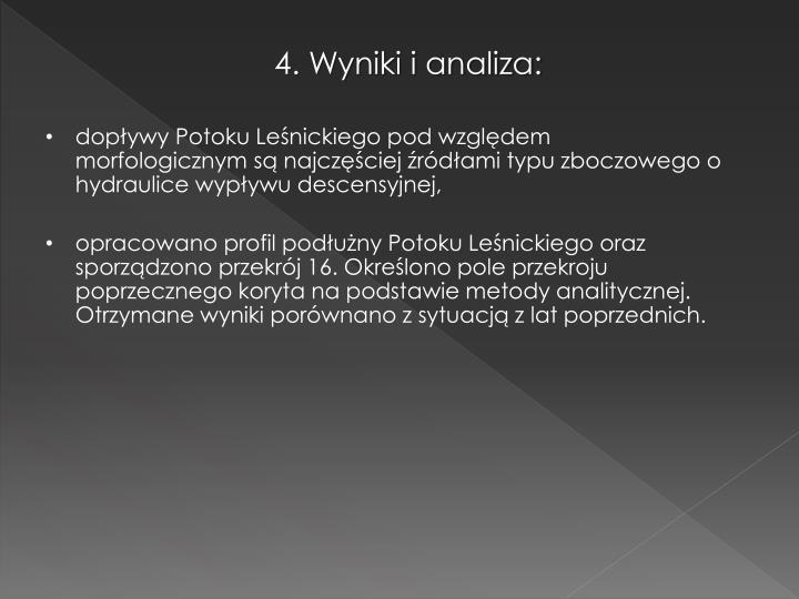 4. Wyniki i analiza: