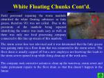 white floating chunks cont d1