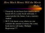 how much money will the movie make