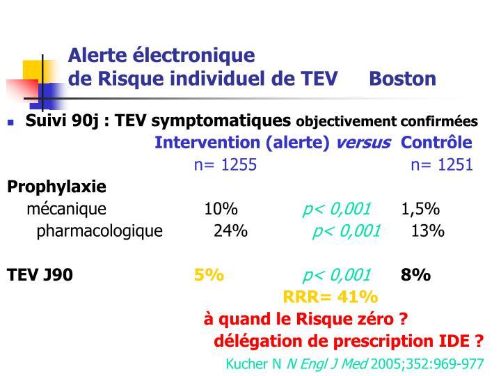 Suivi 90j : TEV symptomatiques