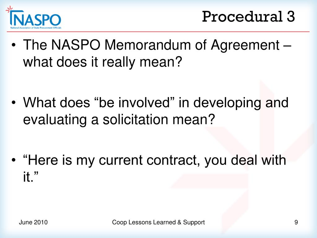 PPT - Cooperative Purchasing Lesson Learned and NASPO