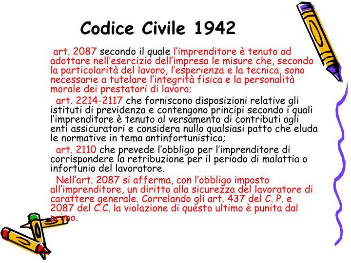 Codice Civile 1942