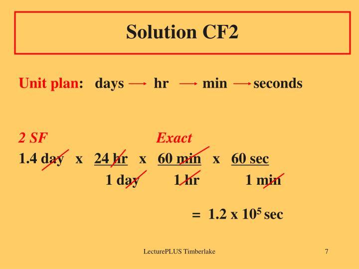 Solution CF2