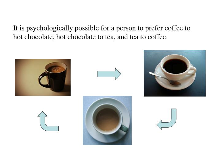 It is psychologically possible for a person to prefer coffee to