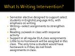 what is writing intervention