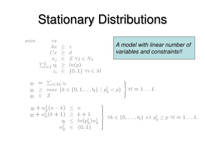 Stationary Distributions