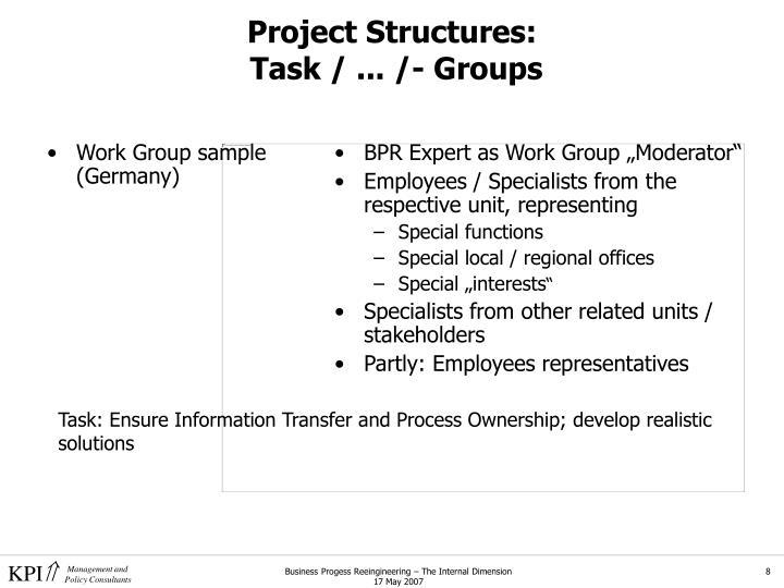 Work Group sample (Germany)