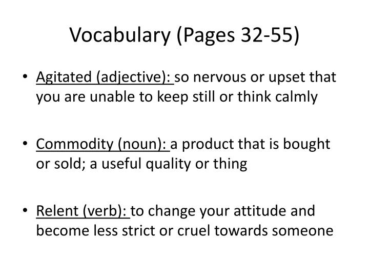 Vocabulary (Pages 32-55)
