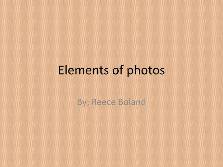 elements of photos n.