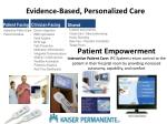 evidence based personalized care