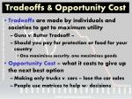 tradeoffs opportunity cost