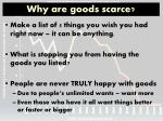 why are goods scarce
