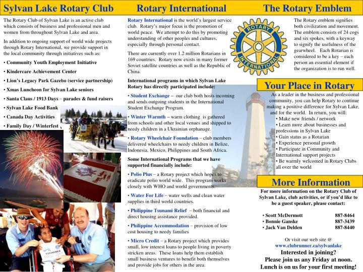 Sylvan Lake Rotary Club