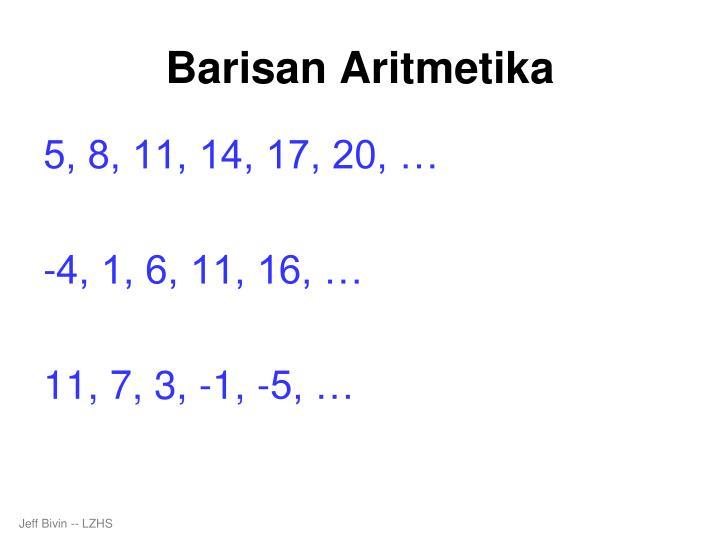 Barisan aritmetika