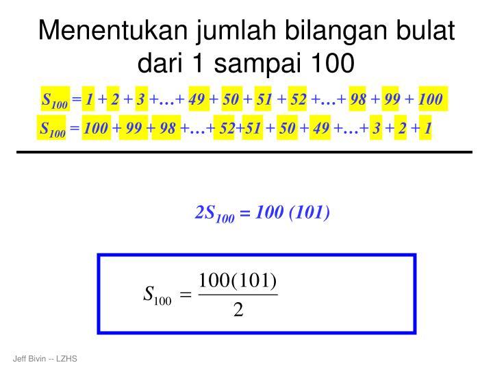 Menentukan jumlah bilangan bulat