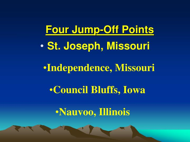 Four Jump-Off Points