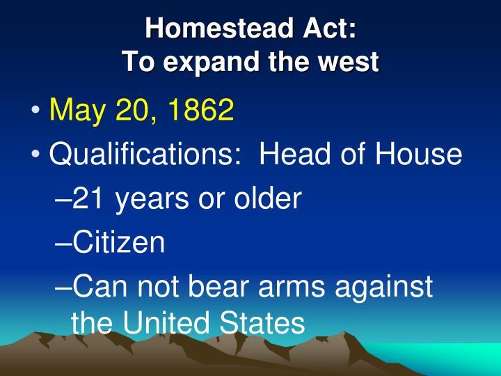 Homestead Act:
