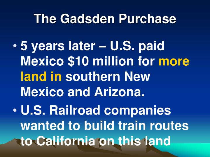 The Gadsden Purchase
