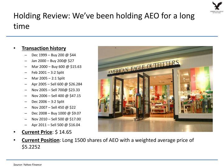 Holding Review: We've been holding AEO for a long time