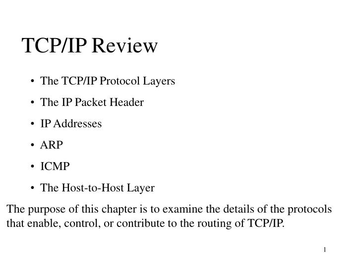 Tcp ip review