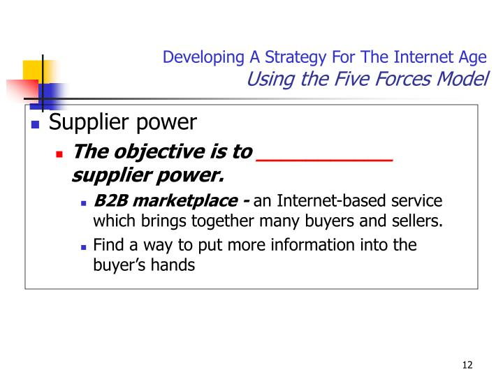 Developing A Strategy For The Internet Age