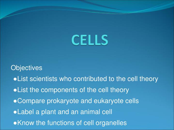 description and analysis of the cell theory The cell theory check out the games, interactive labs, and videos for tons of fun fun facts did you know 1.