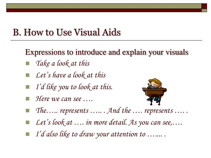 B. How to Use Visual Aids