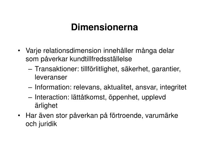 Dimensionerna
