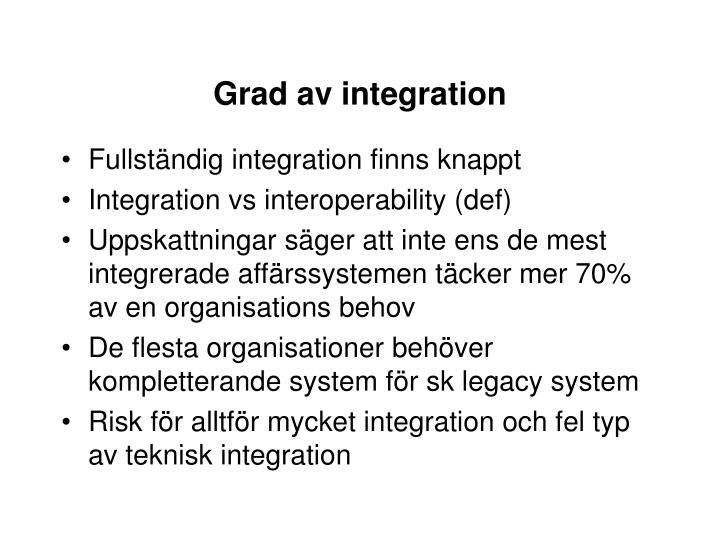 Grad av integration