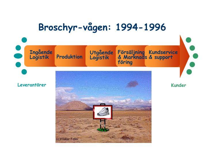 Broschyr-vågen: 1994-1996