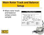 main rotor track and balance setup