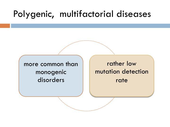 Polygenic,  multifactorial diseases