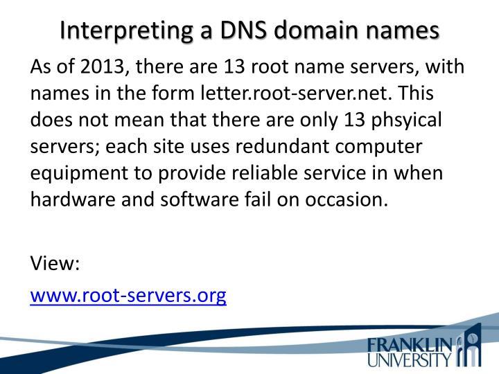 Interpreting a DNS domain names