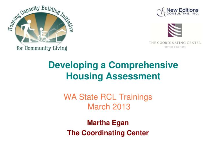 developing a comprehensive housing assessment n.