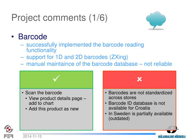Project comments (1/