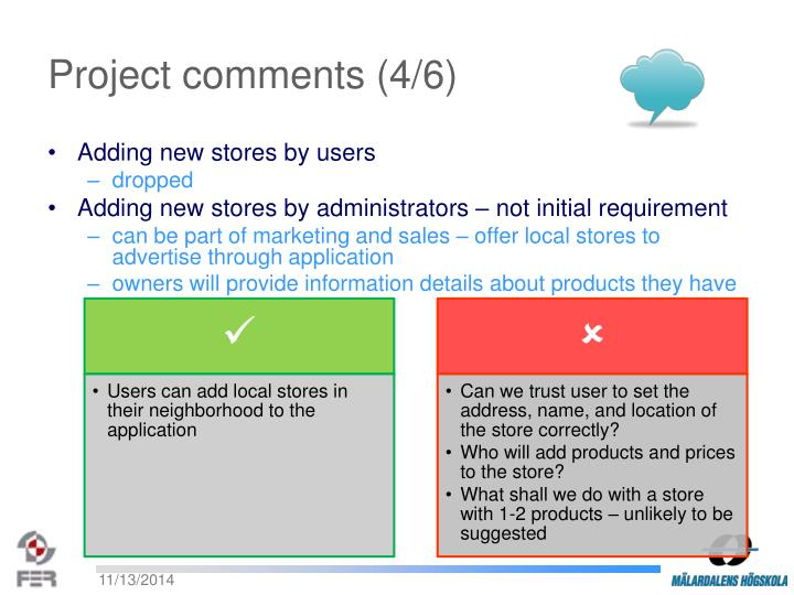 Project comments (4/