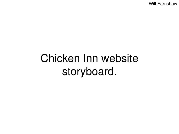 Ppt  Chicken Inn Website Storyboard Powerpoint Presentation  Id