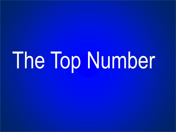 The Top Number