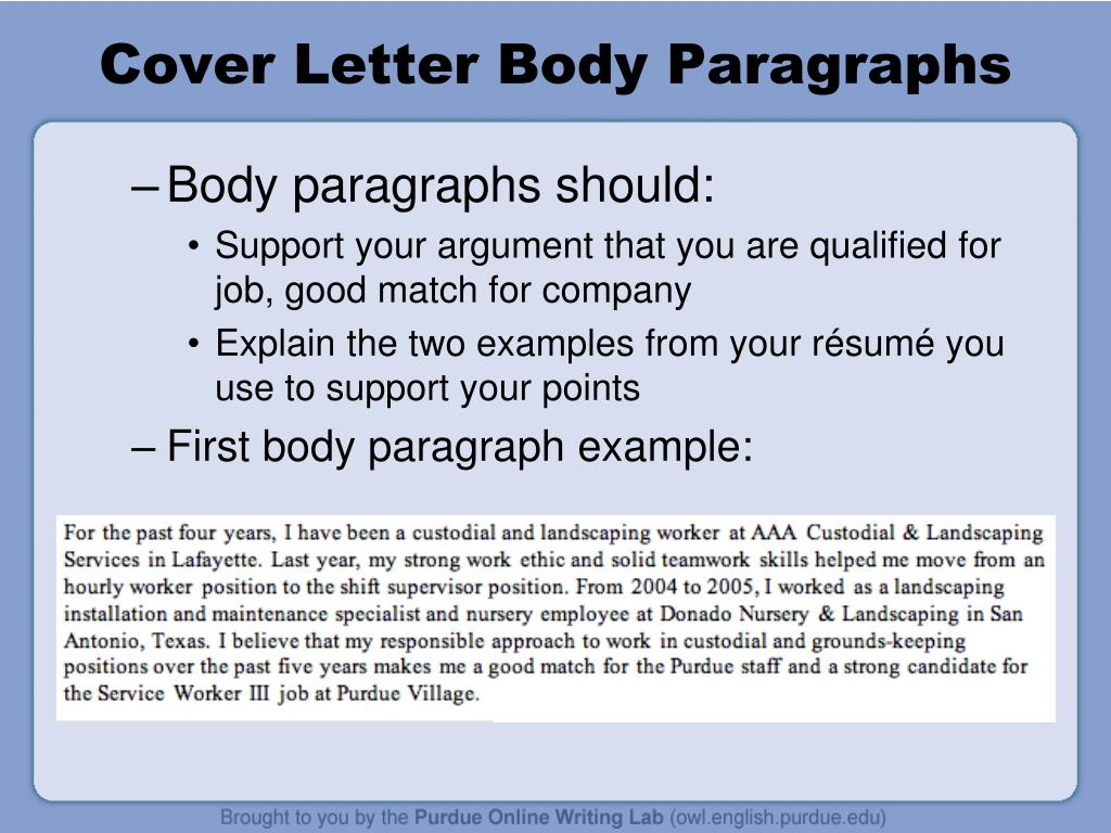 Cover Letter Body Paragraphs.Ppt Cover Letter Workshop Powerpoint Presentation Id 6563632