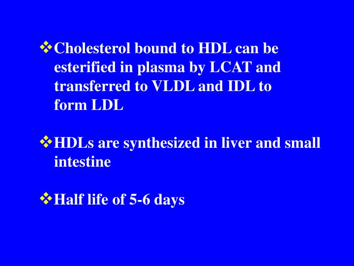 Cholesterol bound to HDL can be