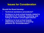 issues for consideration2