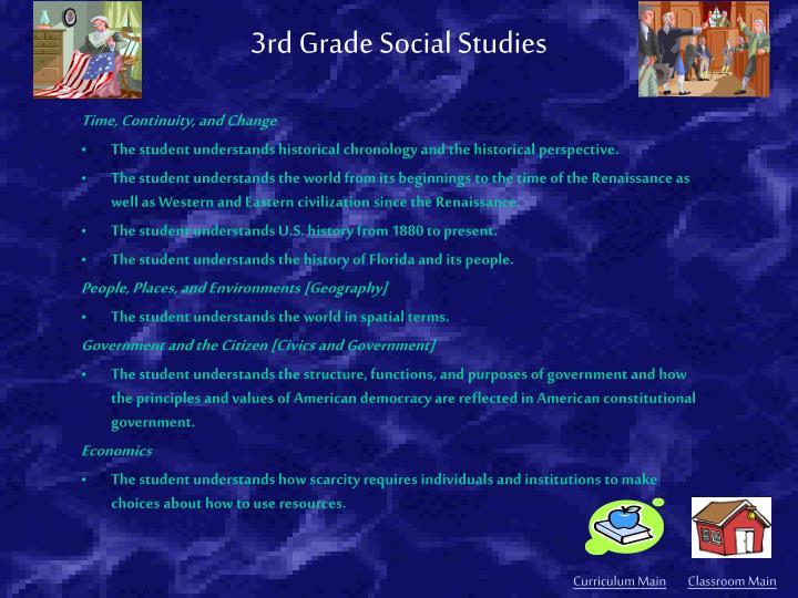 3rd Grade Social Studies
