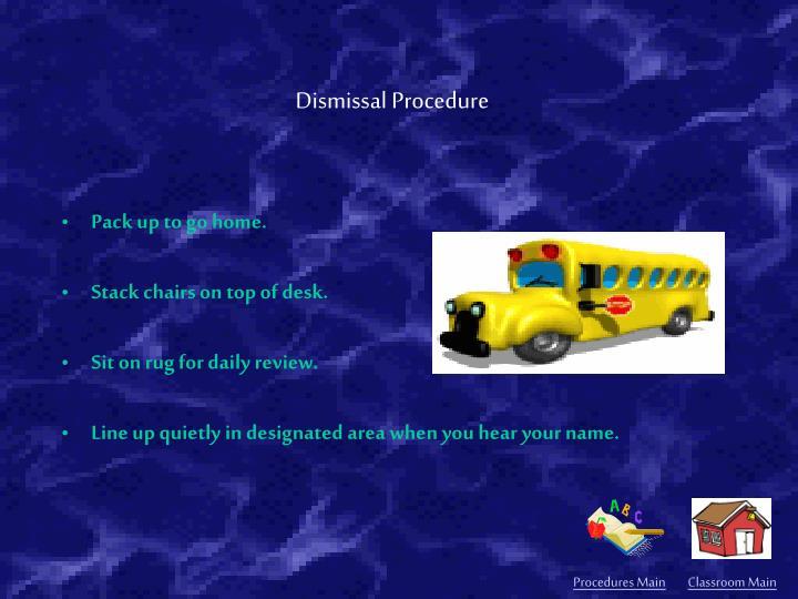 Procedures Main