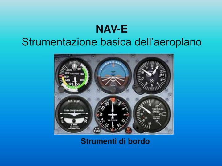 Nav e strumentazione basica dell aeroplano
