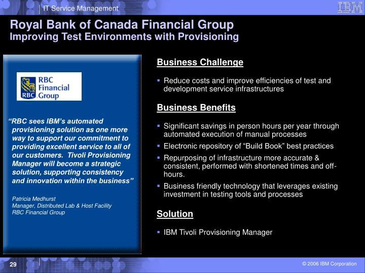 Royal Bank of Canada Financial Group