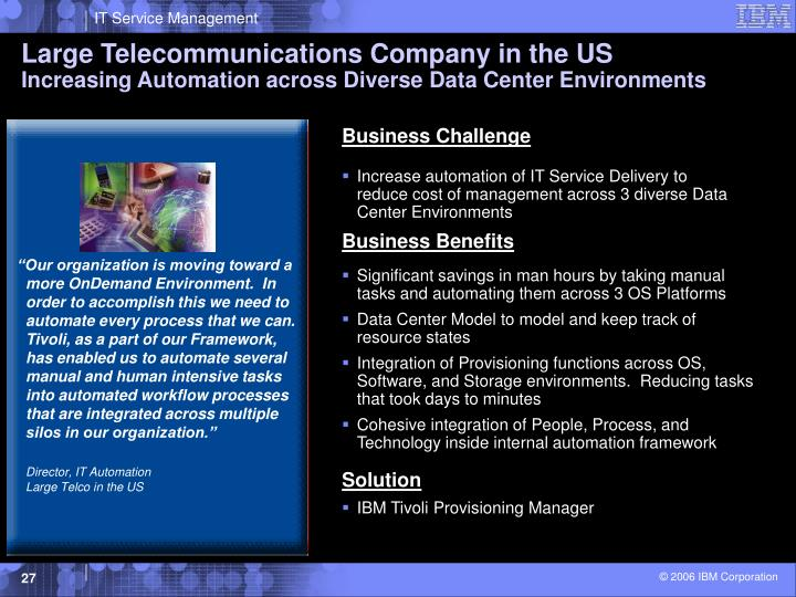 Large Telecommunications Company in the US