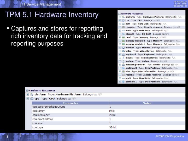 TPM 5.1 Hardware Inventory