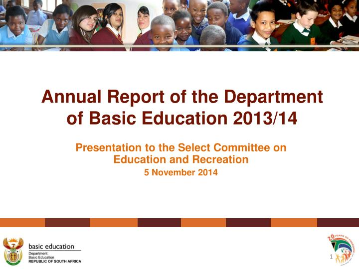 education acts and reports